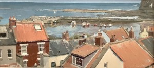 Over the Rooftops to Staithes Harbour