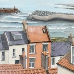 Over the Rooftops to the Harbour, Staithes by Lucy Wilson