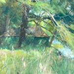 Painter by the Old Boatshed, Sandbeck by David Curtis