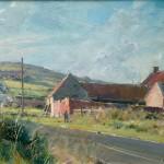 Red House Farm, Cowbar by David Curtis ROI RSMA