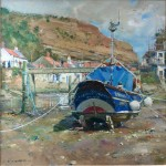 Roxby Beck, Staithes by David Curtis ROI RSMA