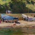 Sandsend Sunseekers by David Curtis ROI RSMA