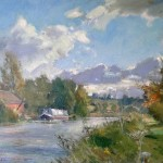 Scudding Clouds, Chesterfield Canal by David Curtis ROI RSMA