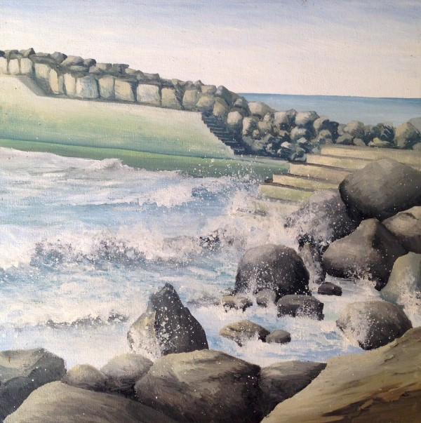 Southern Breakwater, Staithes by Lucy Wilson