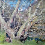 Springtime in the Glade Staithes by David Curtis ROI RSMA