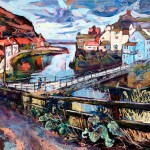 Staithes Beck and Footbridge by Susan Isaac