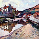 Reflections, Staithes Beck by Susan Isaac