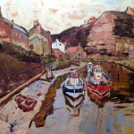 Staithes Beck from the Footbridge by Susan Isaac