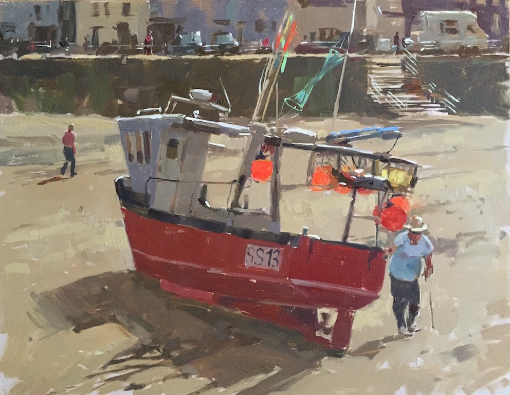 Staithes Fishing Boat by Haidee-Jo Summers