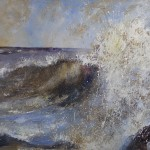 Staithes Wave by Sue Nichol