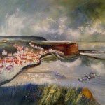 Staithes from Penny Nab by Sue Nichol
