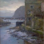 Still Morning, Staithes Harbour by David Curtis