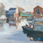 Still Morning West Stockwith Basin by David Curtis