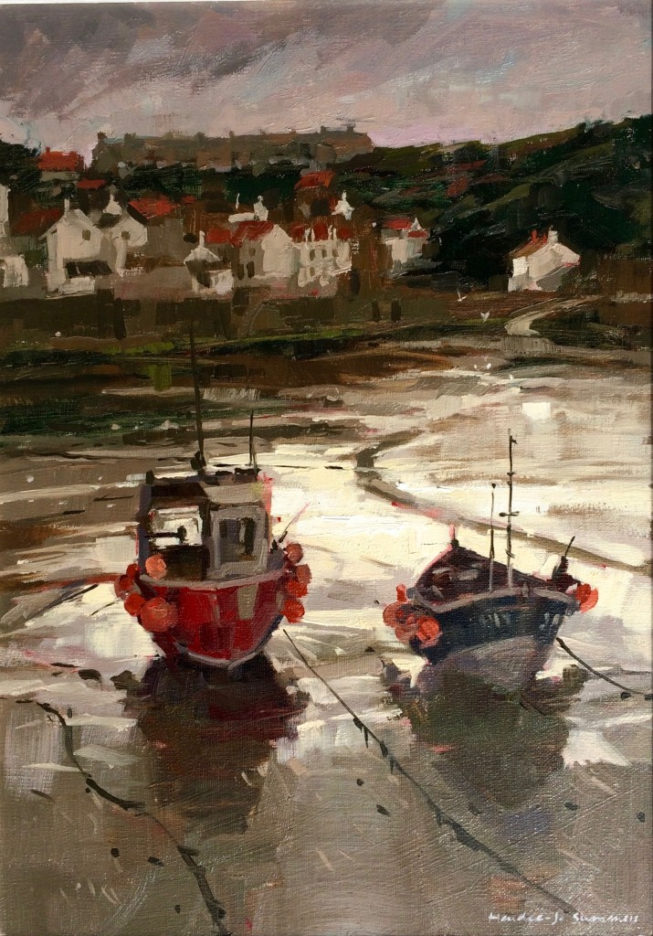 Sunlight, Staithes Harbour by Haidee-Jo Summers ROI