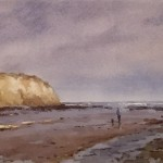 Sunlit Cliff, Robin Hood's Bay by Marshall Ould SOLD