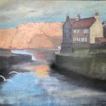 Sunlit Cliffs, Staithes by Ian Burdall