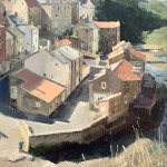 Sunlit Rooftops, Staithes Beck by Lynton Parmar Hemsley