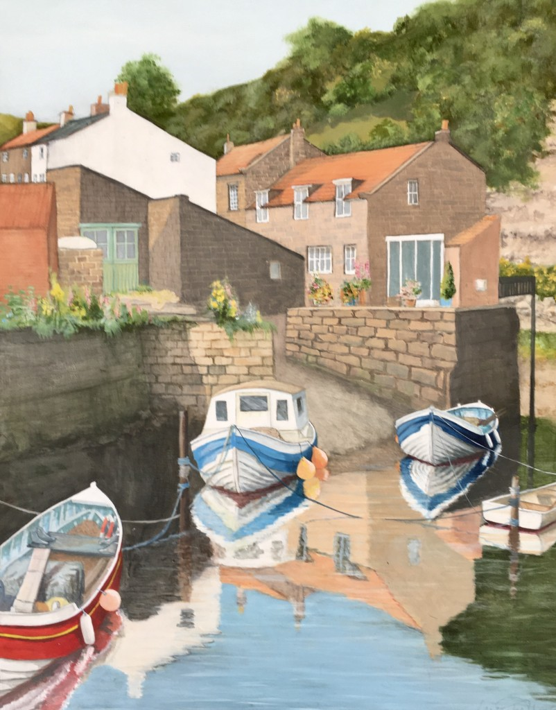 Sunny Reflections, Staithes by Lucy Wilson