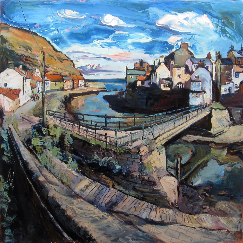 Staithes Beck & Footbridge by Susan Isaac