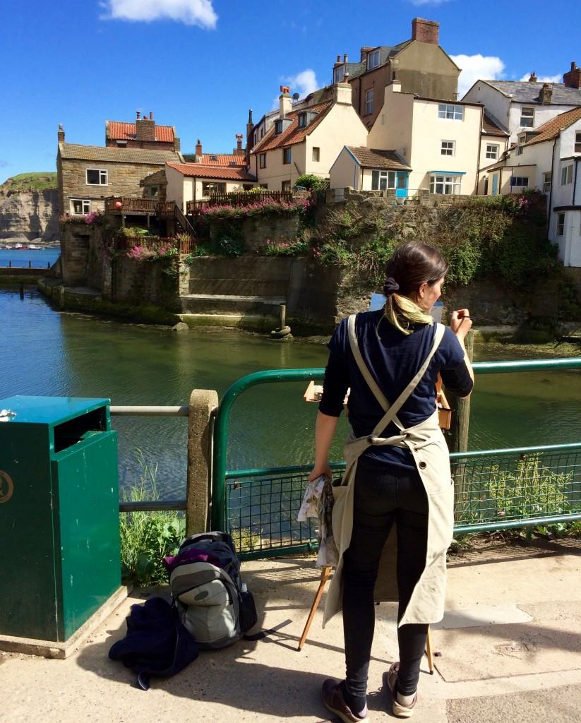 Susanna on the bridge HJS June 2017