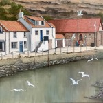 Swooping Gulls by Lucy Wilson