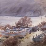 The Boat Park, Runswick Bay by Marshall Ould