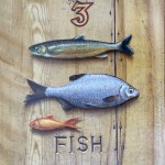 Staithes Chapel panel series: Three Fishes by Paul Czainski