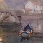 Twilight Moorings by David Curtis ROI RSMA