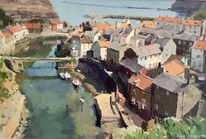 View to Staithes from Cowbar