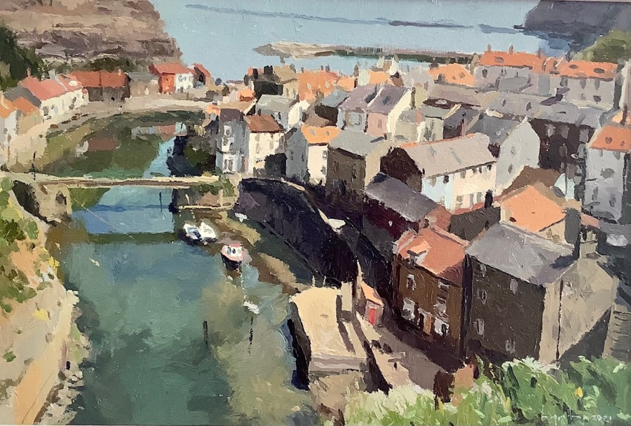 View to Staithes from Cowbar by Lynton Parmar Hemsley