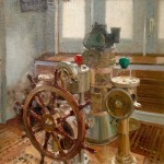 Wheelhouse, HQS Wellington by David Curtis RSMA ROI