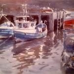 Whitby Moorings by Marshall Ould