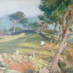 Windswept Pines above Sleights by David Curtis ROI RSMA