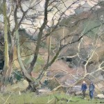 Winter Glade, Staithes by David Curtis ROI RSMA