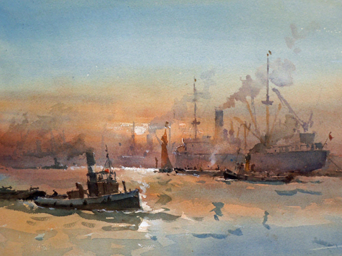 alan_runagall_evening_on_the_thames