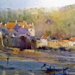 Early Morning, Low Tide, Staithes by David Curtis
