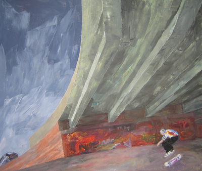 Skateboarding Under the A66 by Margaret Shields