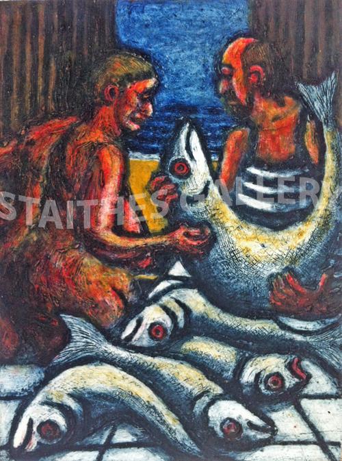 Fish Market 1 by Shirley Fletcher